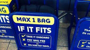 le regole del bagaglio a mano di Ryanair